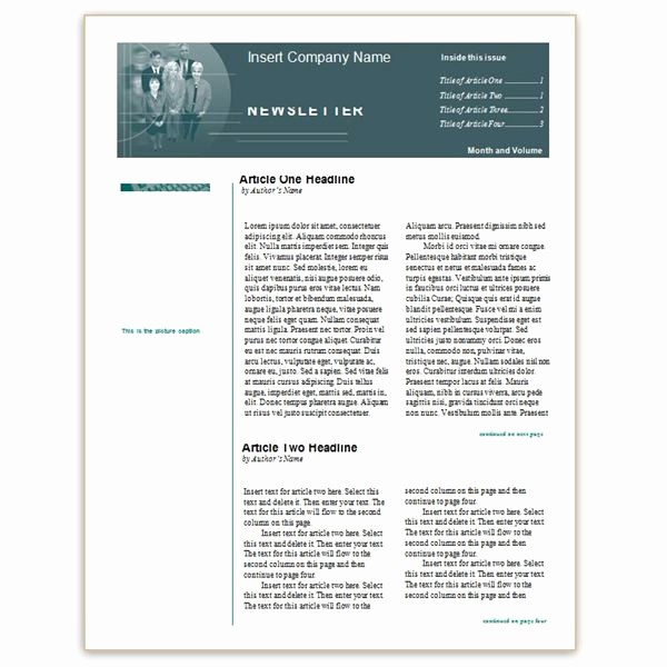 Microsoft Word Newsletter Templates Free Unique where to Find Free Church Newsletters Templates for