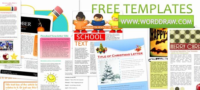 Microsoft Word Newsletter Templates Free Unique Worddraw Free Newsletter Templates for Microsoft Word
