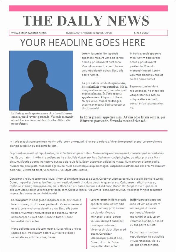 Microsoft Word Newspaper Article Template Awesome Microsoft Publisher Newspaper Template Microsoft Publisher