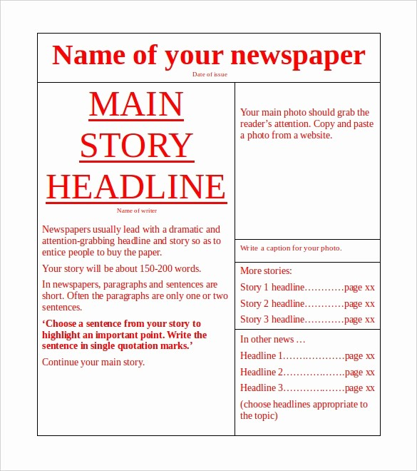 Microsoft Word Newspaper Article Template Best Of Microsoft Templates – 18 Free Word Excel Ppt Pub