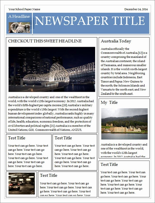 Microsoft Word Newspaper Article Template Elegant 42 Amazing Newspaper Templates