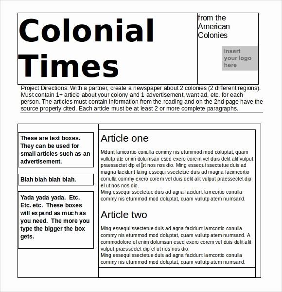Microsoft Word Newspaper Article Template Elegant 7 Microsoft Newsletter Templates Download Free