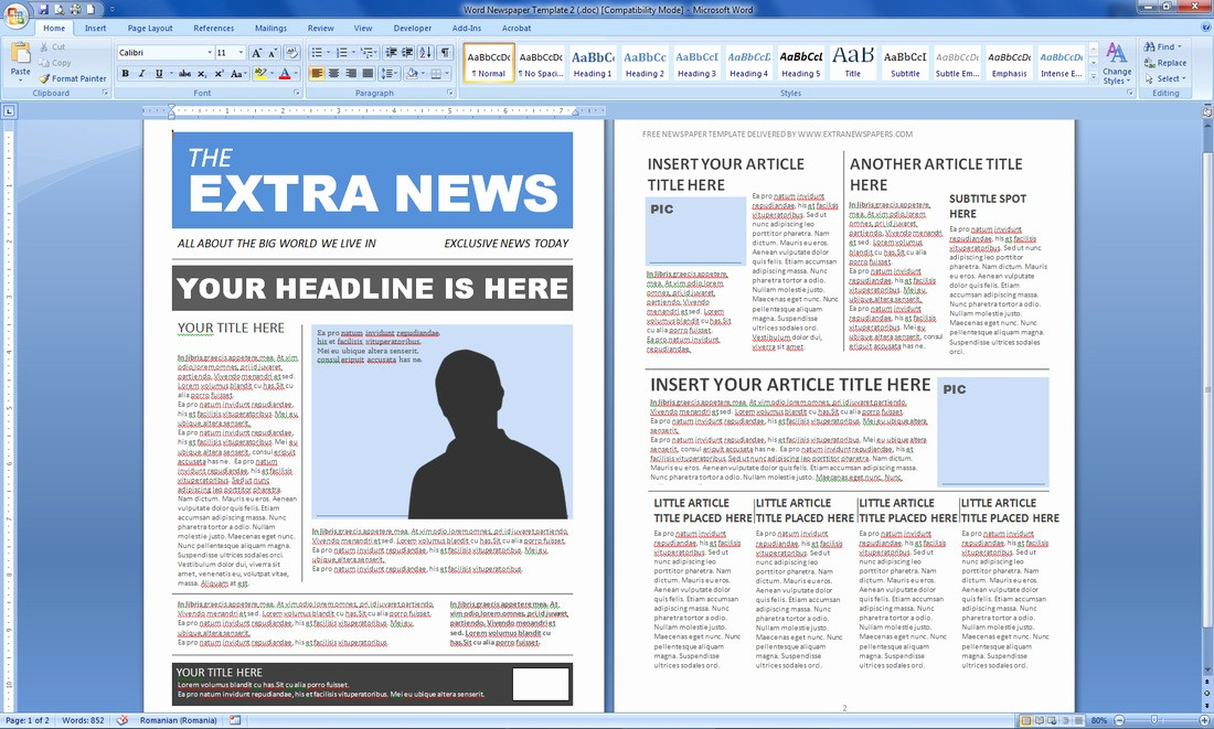 Microsoft Word Newspaper Article Template Elegant Magazine Templates Word Word Excel Samples