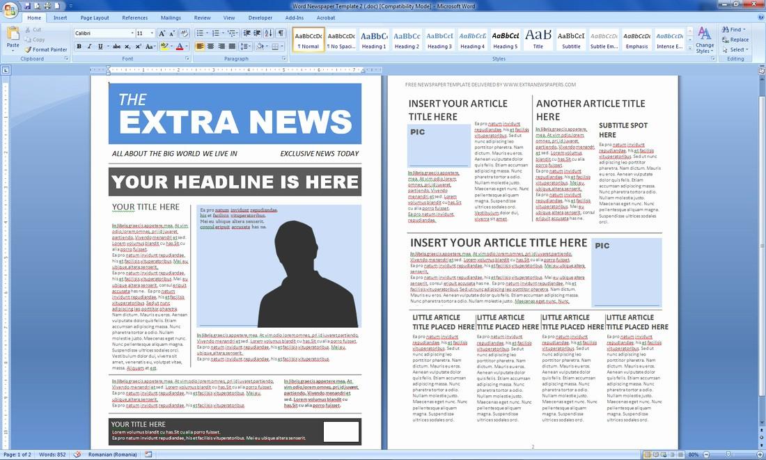 Microsoft Word Newspaper Article Template Elegant Magazine Templates Word Word Excel Samples