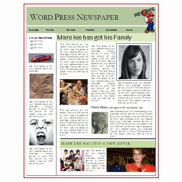 Microsoft Word Newspaper Article Template Fresh Newspaper Layout Templates Excellent sources to Help You