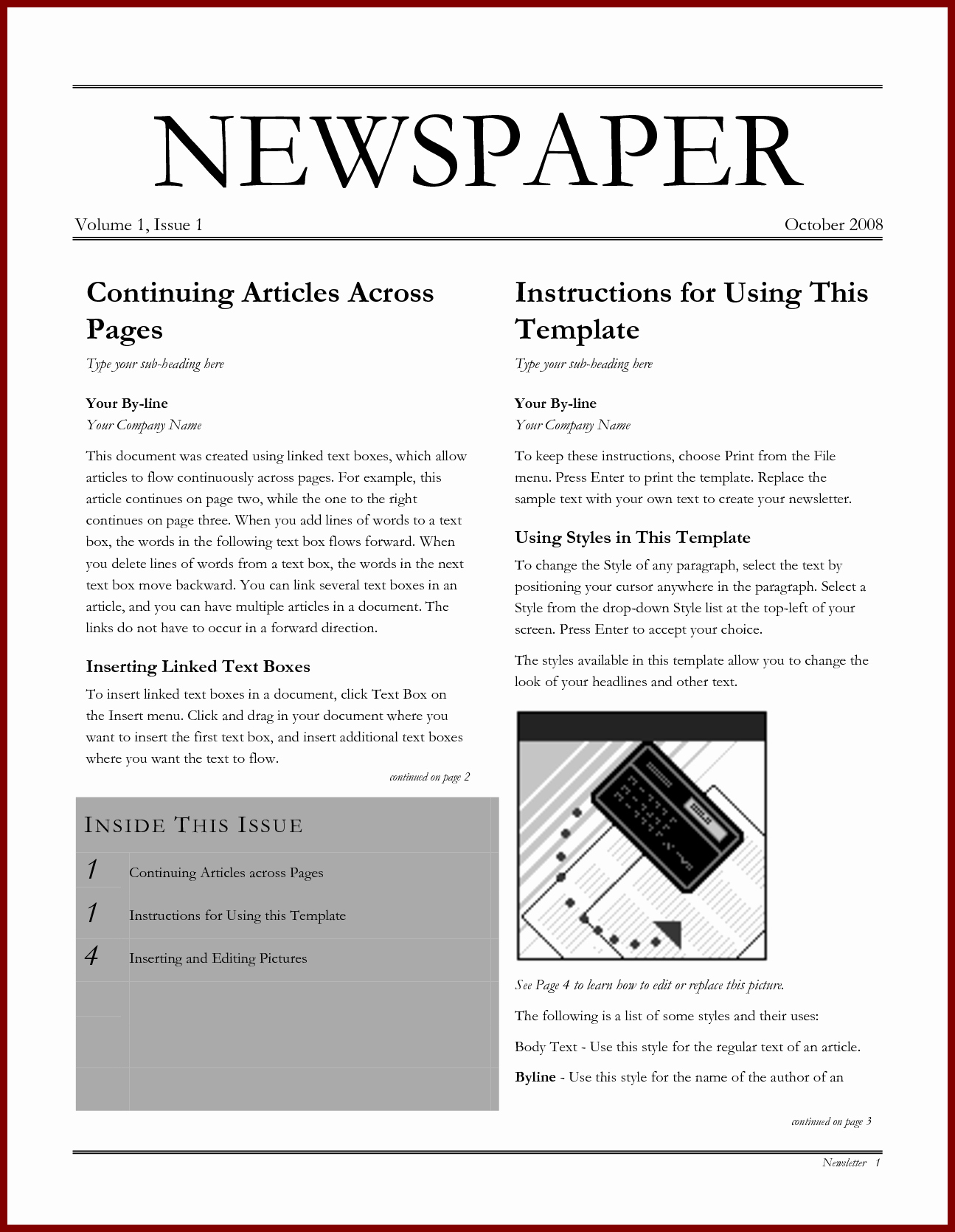 Microsoft Word Newspaper Article Template Lovely How to Make A Newspaper Article Template Microsoft Word