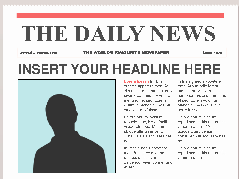 Microsoft Word Newspaper Article Template Luxury Free Newspaper Template