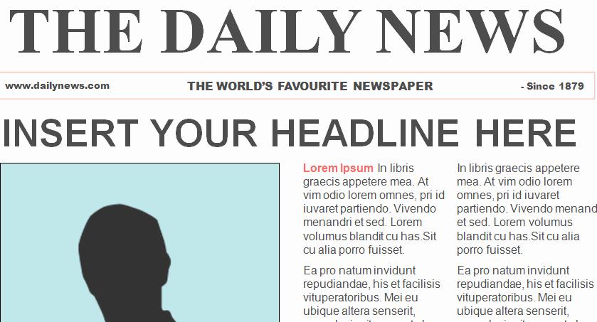 Microsoft Word Newspaper Article Template New Free Newspaper Template