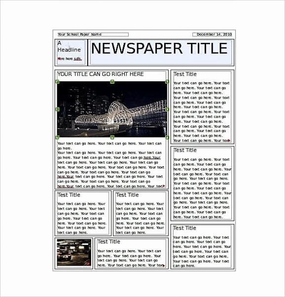 Microsoft Word Newspaper Article Template New Microsoft Newsletter Templates Publisher Free