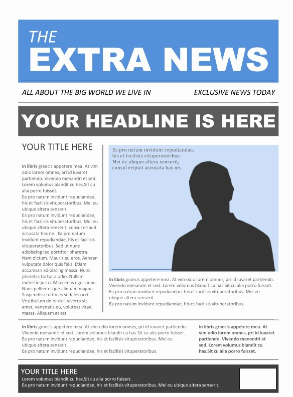 Microsoft Word Newspaper Article Template Unique Free Newspaper Template Pack for Word Perfect for School