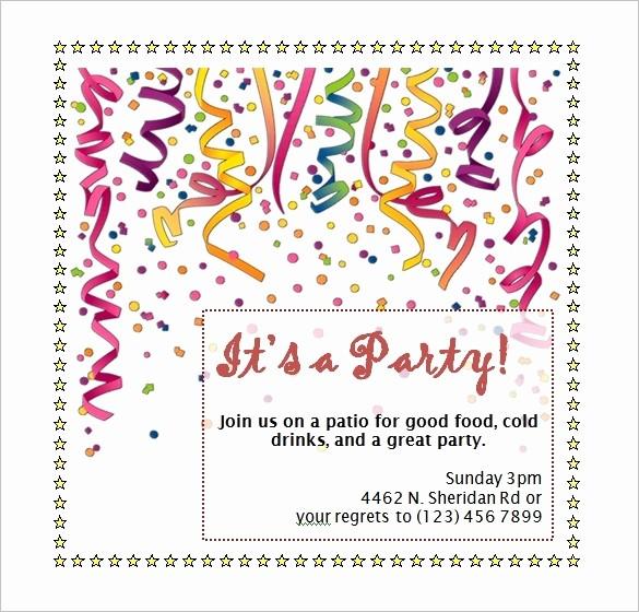 Microsoft Word Party Invitation Templates Awesome Birthday Party Invitation Template Word Beepmunk