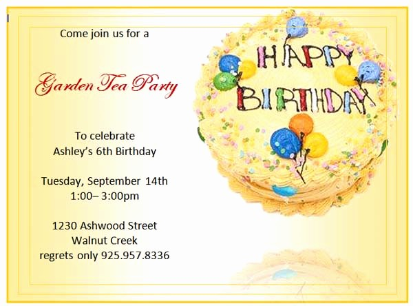 Microsoft Word Party Invitation Templates Beautiful Birthday Invitation Templates Microsoft Word Templates