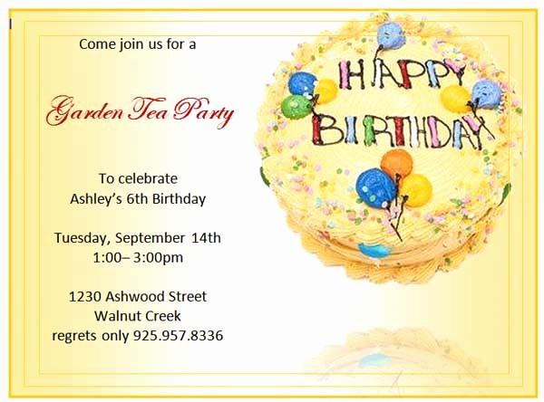 Microsoft Word Party Invitation Templates Beautiful Birthday Invitation Templates Microsoft Word Templates