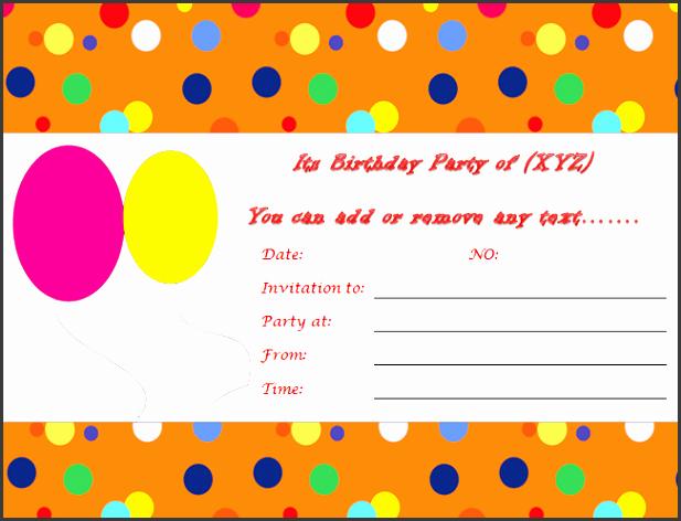 Microsoft Word Party Invitation Templates Elegant 10 Ms Word Birthday Party Invitation Template