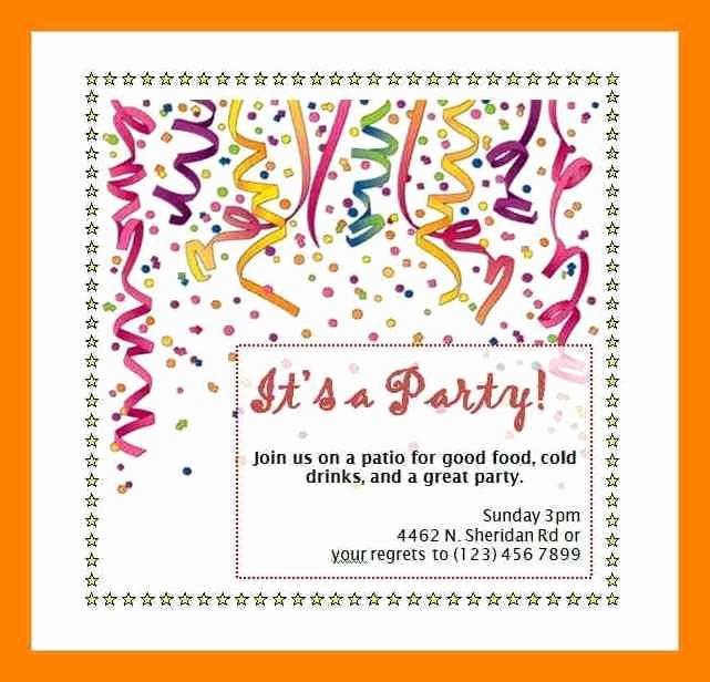 Microsoft Word Party Invitation Templates Fresh Birthday Invitation Template Word 9 Birthday Party