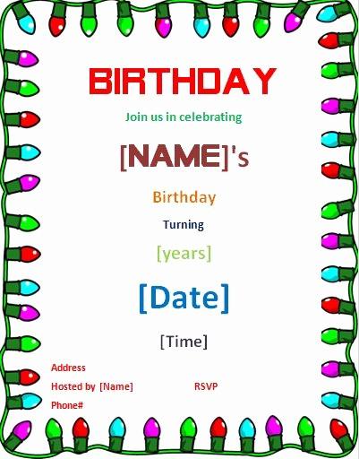 Microsoft Word Party Invitation Templates Inspirational Birthday Invitation Card Template Word Templates Data