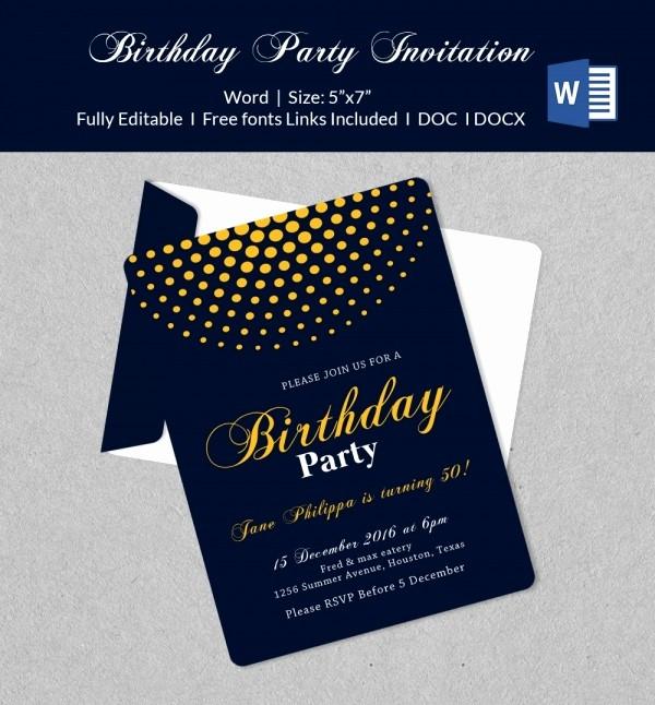 Microsoft Word Party Invitation Templates Lovely 50 Microsoft Invitation Templates Free Samples