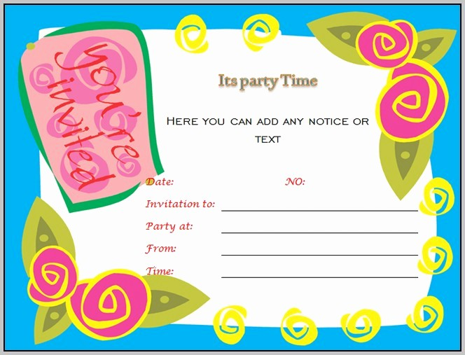Microsoft Word Party Invitation Templates Luxury Birthday Invitation Templates for Microsoft Word