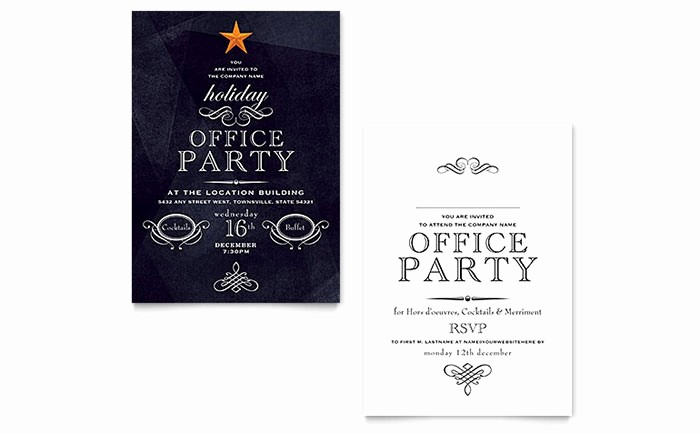 Microsoft Word Party Invitation Templates Luxury Fice Holiday Party Invitation Template Word & Publisher