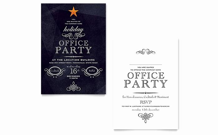 Microsoft Word Party Invitation Templates Luxury Fice Holiday Party Invitation Template Word & Publisher