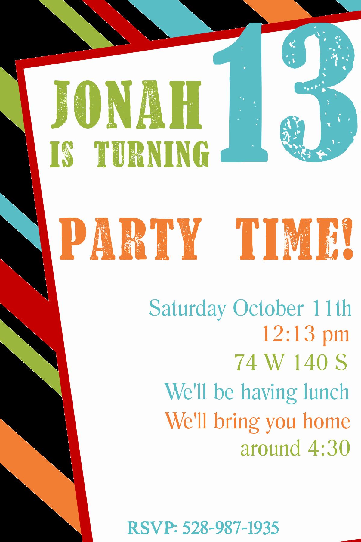 Microsoft Word Party Invitation Templates Luxury Free Printable Birthday Invitation Templates