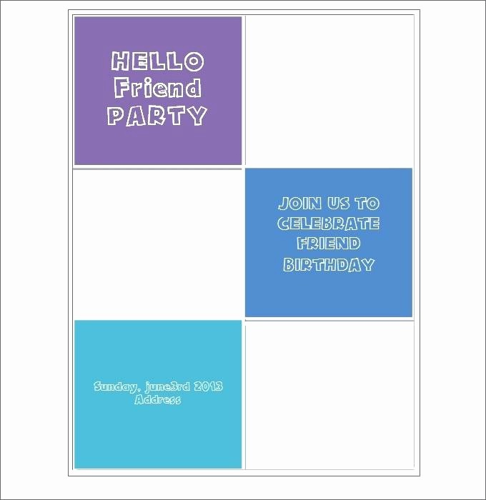 Microsoft Word Party Invitation Templates New Free Printable Postcard Invitations Template Inside Blank