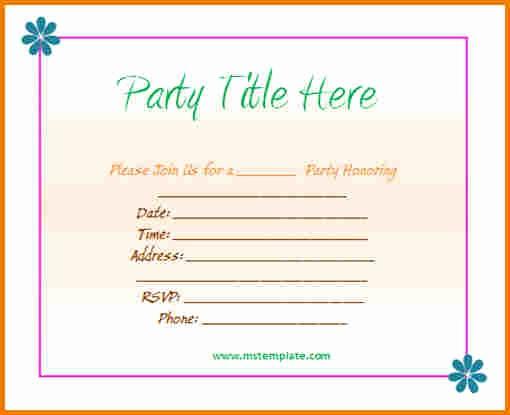 Microsoft Word Party Invitation Templates New Microsoft Office Invitation Templates