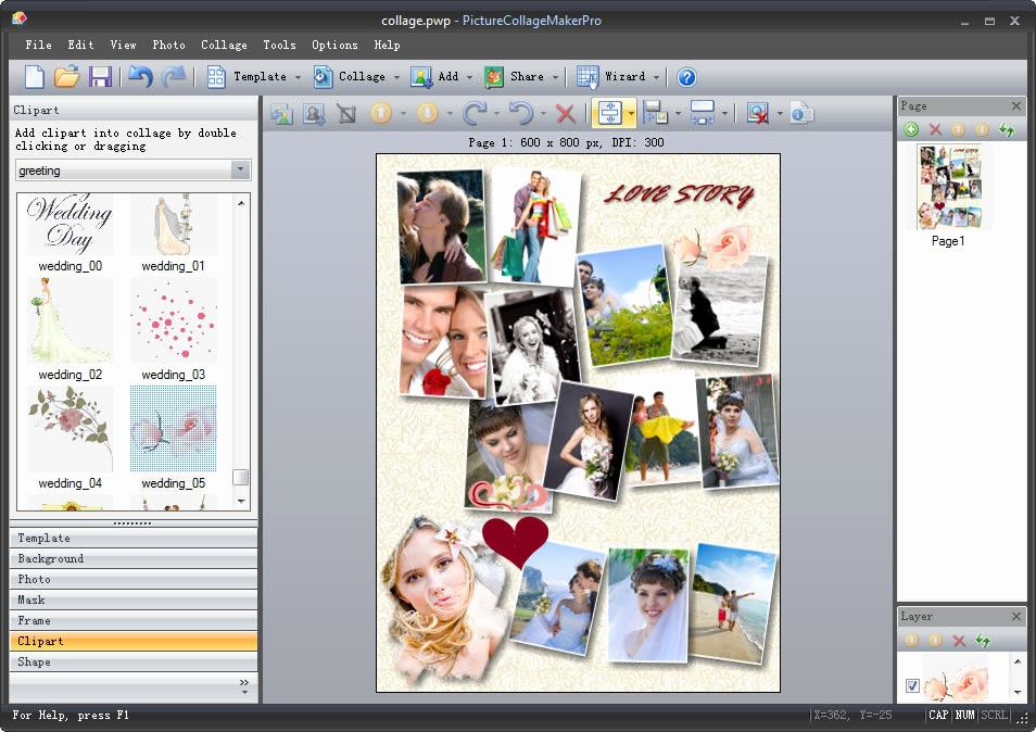 Microsoft Word Photo Collage Template Beautiful Picture Collage Maker for Mac & Win Collage software