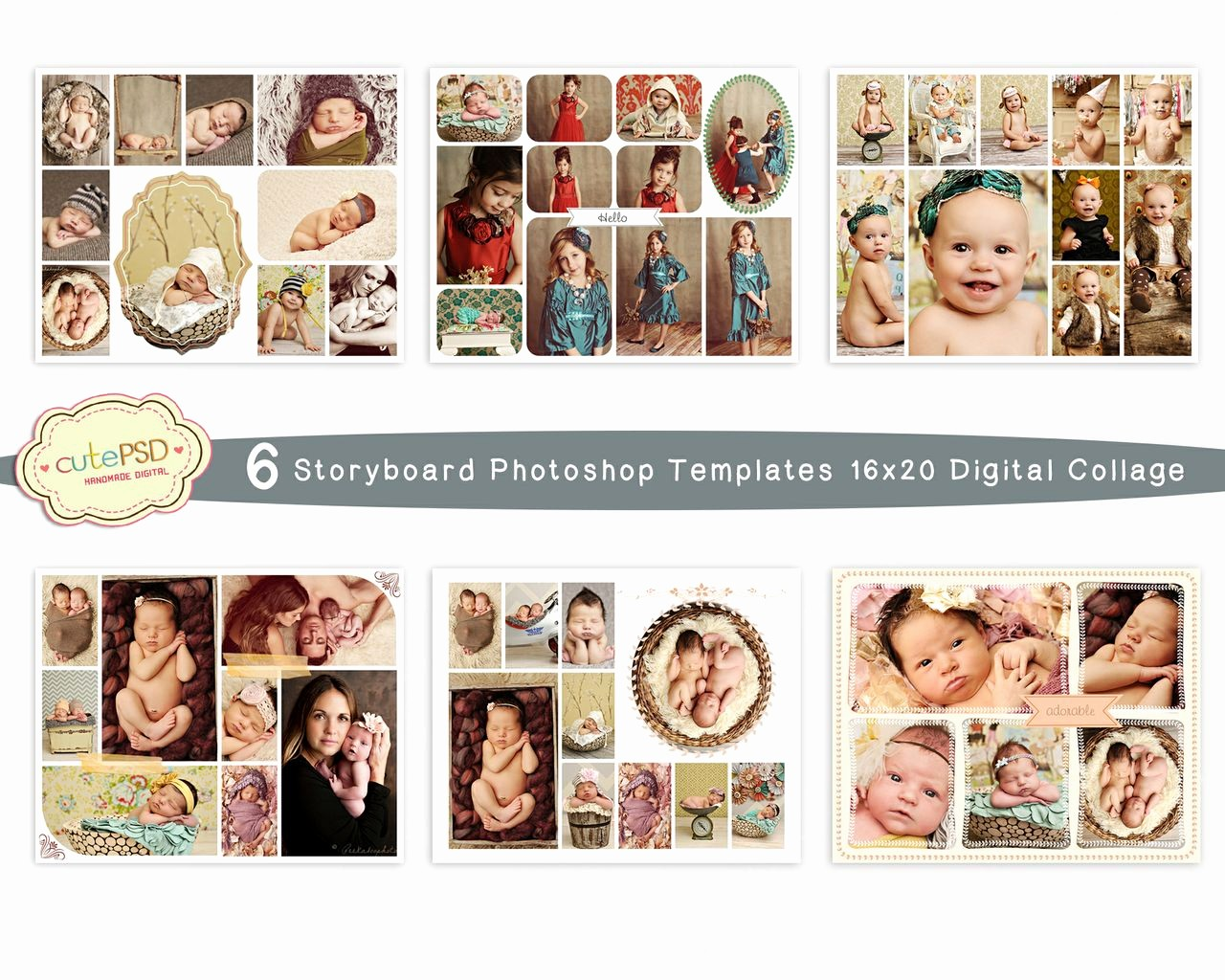 Microsoft Word Photo Collage Template Luxury Cpz025 Collage Template 6 Storyboard Shop Tem