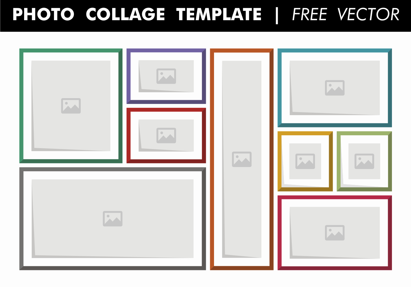 Microsoft Word Photo Collage Template New Collage Template Free Vector Download Free Vector