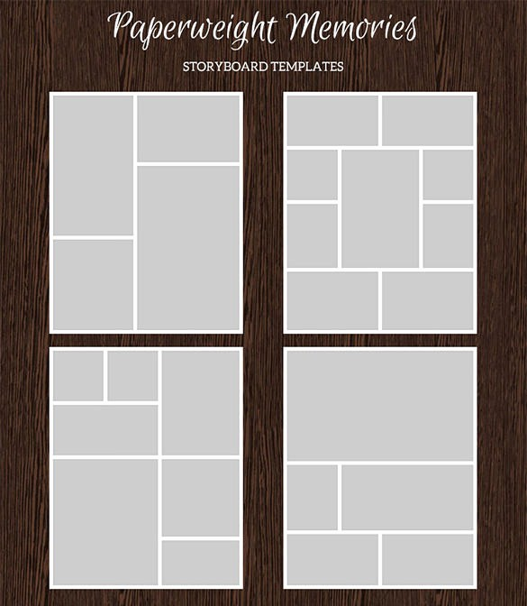 Microsoft Word Photo Collage Template Unique 82 Storyboard Templates Pdf Ppt Doc Psd
