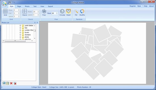 Microsoft Word Photo Collage Template Unique Best S Of Heart Shaped Collage Template Heart