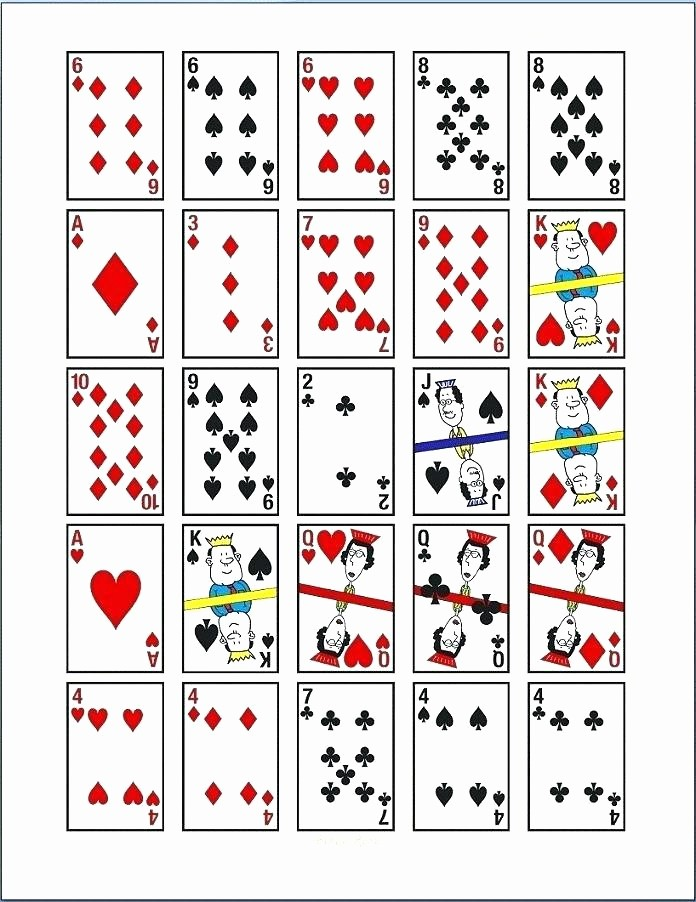 Microsoft Word Playing Card Template Best Of Deck Of Cards Template Printable – Flirty
