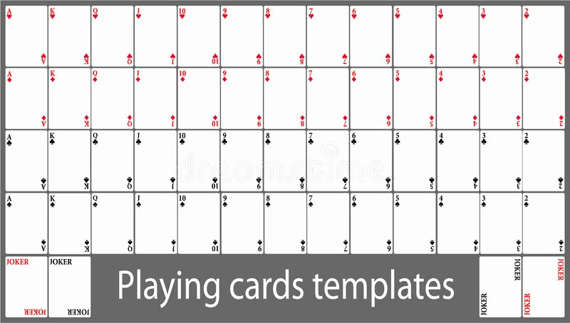 Microsoft Word Playing Card Template New Playing Cards Template Set Stock Vector Illustration Of