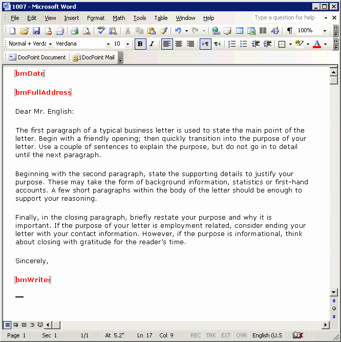 Microsoft Word Professional Letter Template Awesome Tutorial Creating A Business Letter Template