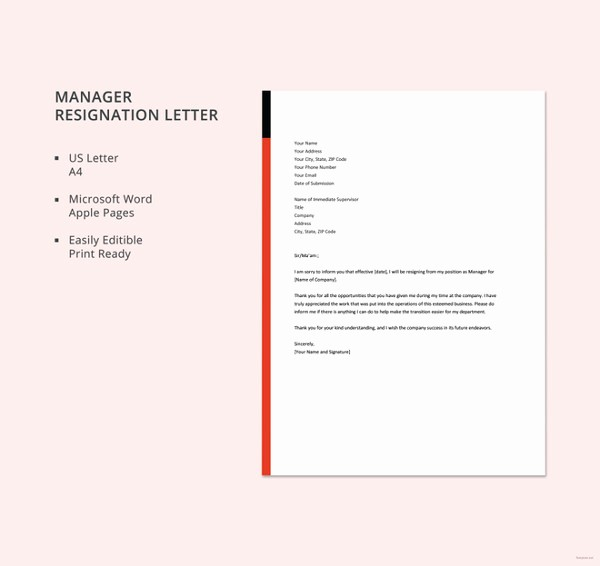 Microsoft Word Professional Letter Template Elegant 12 formal Resignation Letter Template Free Word Excel
