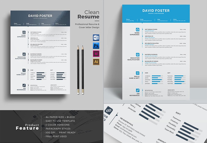 Microsoft Word Professional Letter Template Unique 25 Professional Ms Word Resume Templates with Simple