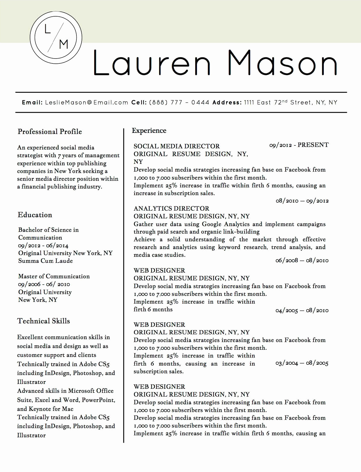 Microsoft Word Professional Resume Template Best Of Job Winning Resume Templates for Microsoft Word & Apple Pages