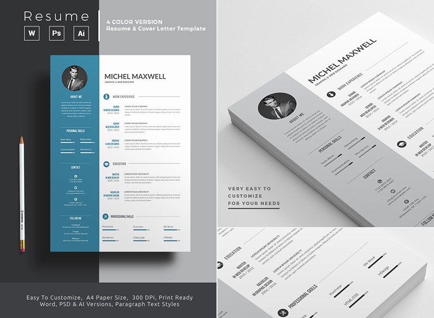 Microsoft Word Professional Resume Template Elegant 25 Professional Ms Word Resume Templates with Simple