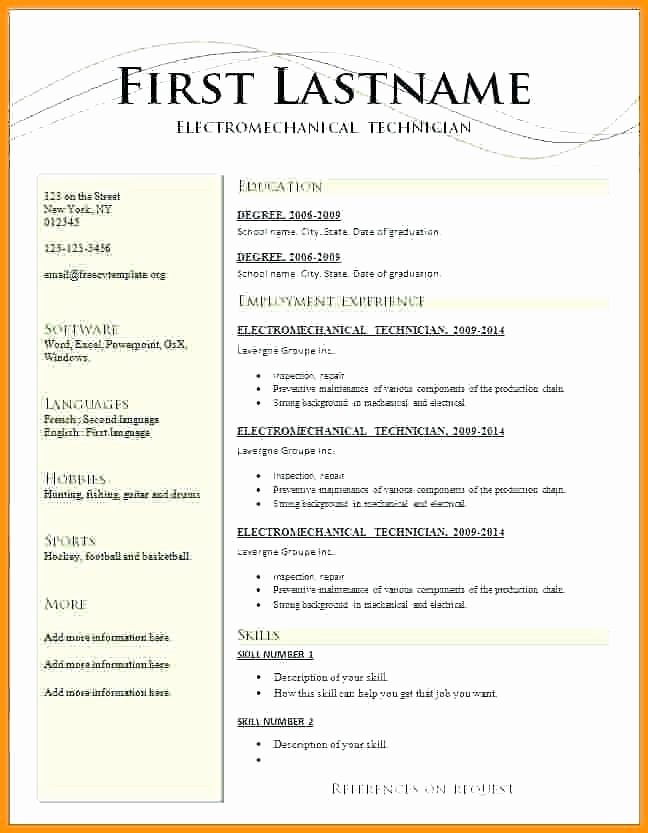 Microsoft Word Professional Resume Template Fresh Resume Template for Word 2018 – Ladylibertypatriot