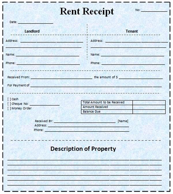 Microsoft Word Receipt Template Free Beautiful Rent Receipt Template