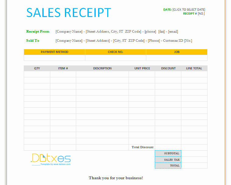 Microsoft Word Receipt Template Free Fresh 17 Sales Receipt Templates Excel Pdf formats