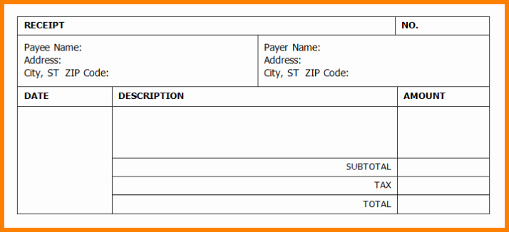 Microsoft Word Receipt Template Free Fresh Receipt Template Word