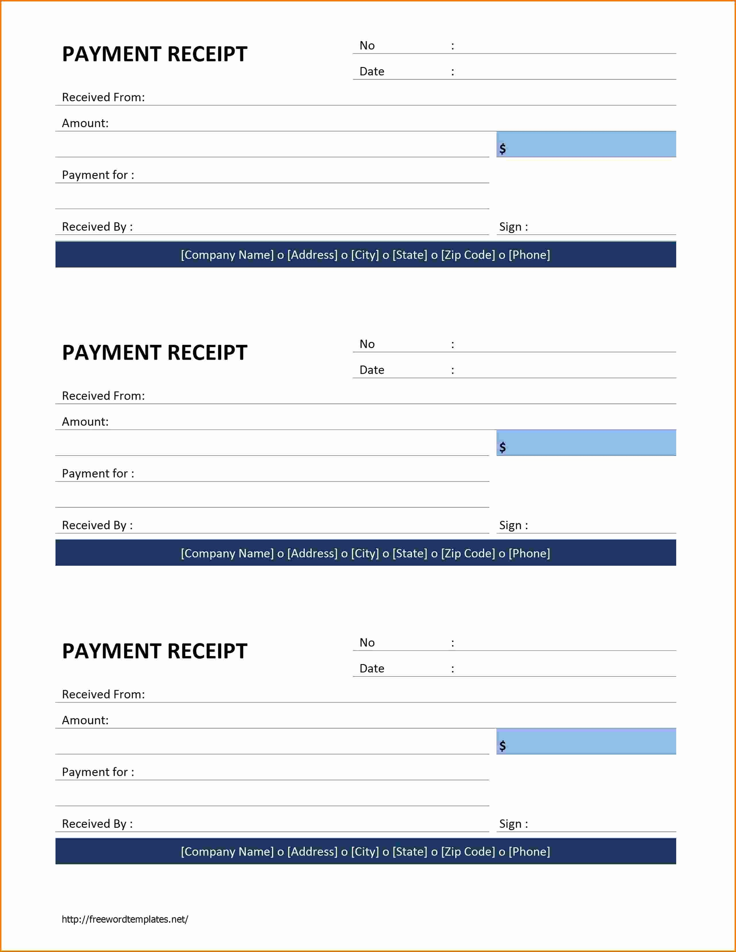 Microsoft Word Receipt Template Free Inspirational 7 Receipt Template Word