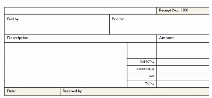 Microsoft Word Receipt Template Free Luxury 50 Free Receipt Templates Cash Sales Donation Taxi