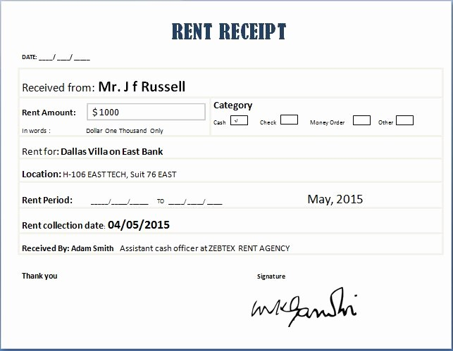 Microsoft Word Receipt Template Free New 14 Rent Receipt Templates Excel Pdf formats