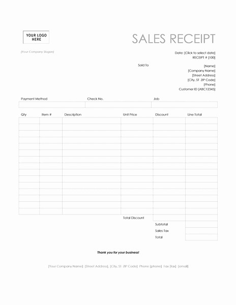 Microsoft Word Receipt Template Free New Invoice Receipt Template Invitation Template
