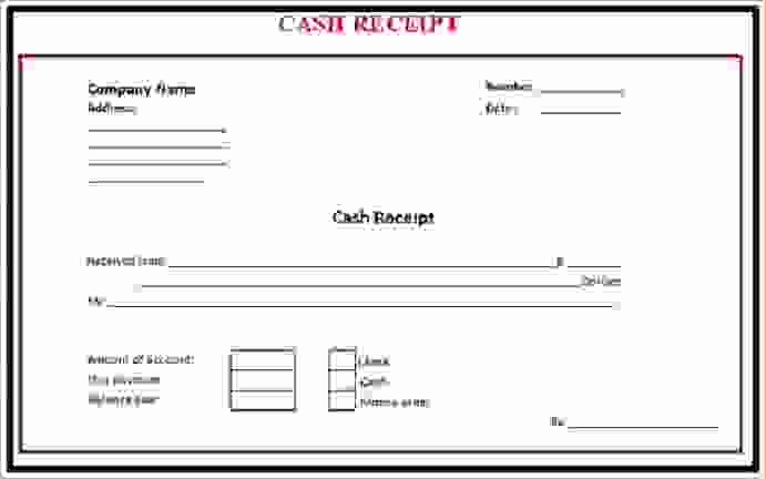 Microsoft Word Receipt Template Free Unique 7 Cash Receipt Template Word