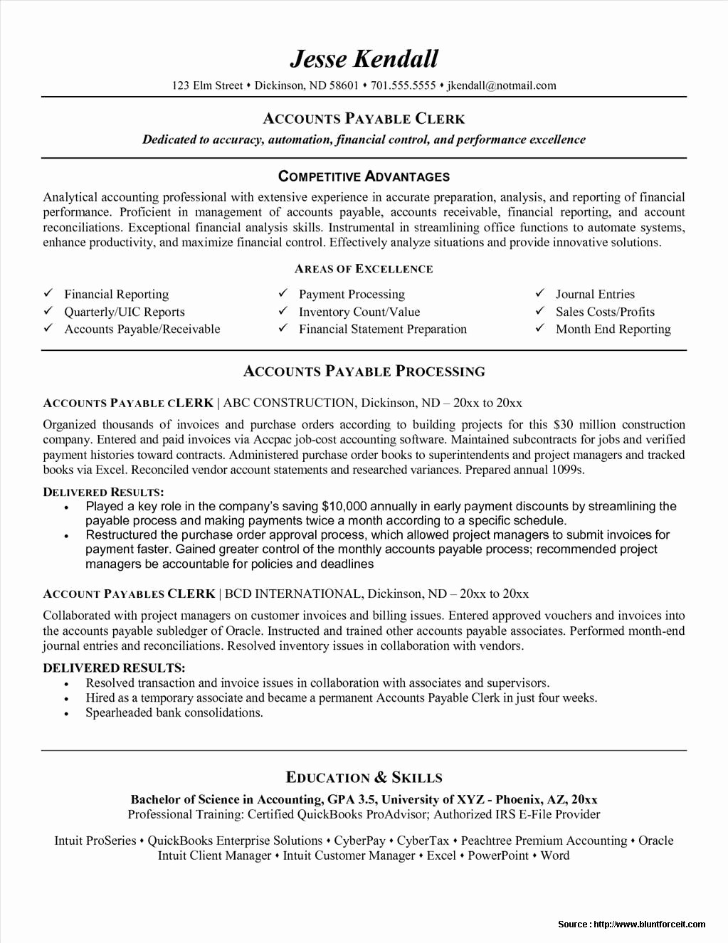 Microsoft Word Resume Template 2017 Elegant Accounts Payable Resume Template Microsoft Word Resume