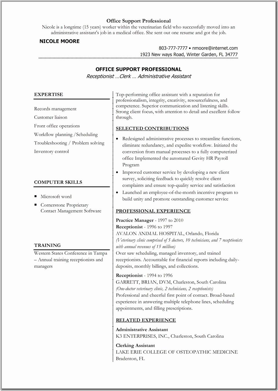 Microsoft Word Resume Template 2017 Inspirational Microsoft Fice Resume Templates